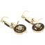 Pendientes Siglo XIX de Oro, Diamantes, Piedras de Color y Perlas