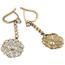 Pendientes Belle Époque de Oro, Platino y Diamantes