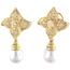 Pendientes de Oro, Perlas y Brillantes
