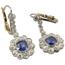 Pendientes Principios Siglo XX de Platino, Diamantes y Piedras de Color