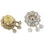 Pendientes Roseta de Platino, Oro y Diamantes