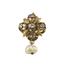 Pendientes Siglo XIX de Oro, Diamantes y Perlas