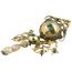 Pendientes Siglo XVIII-XIX de Oro Esmeraldas y Perlas