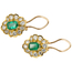 Pendientes Vintage de Oro, Esmeraldas y Brillantes