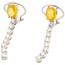 Pendientes de Oro Blanco, Zafiros Naranjas y Diamantes
