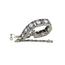 Pulsera Art Decó de Platino, Diamantes y Piedras Azules