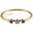 Pulsera de Compromiso Principios Siglo XX de Oro, Diamante y Piedras de Color