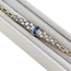 Pulsera de Pedida Años 20 Art Decó de Platino, Diamantes y Piedras de Color