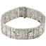 Pulsera Art Decó Francesa de Platino y Diamantes