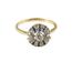 Sortija Art Decó de Oro, Platino, Diamantes y Piedras de Color