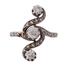Sortija Art Nouveau de Oro, Platino y Diamantes
