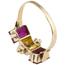Sortija Chevalier de Oro, Diamantes y Piedras de Color