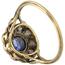 Sortija Años 20 de Oro, Platino, Zafiro y Diamantes