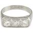 Sortija Tresillo Antigua de Platino y Diamantes