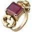 Sortija Chevalier de Oro y Piedra de Color