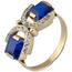 Anillo Chevalier de Oro, Diamantes y Piedras de Color