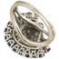 Sortija Años 60 de Oro Blanco, Piedras de Color y Diamantes