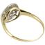 Sortija Art Decó de Oro, Platino y Diamantes