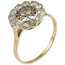 Anillo Art Decó de Oro, Platino y Diamantes