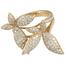 Sortija Mariposas de Oro Rosa y Brillantes