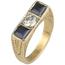 Sortija de Oro, Diamante y Piedras de Color