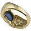 Sortija de Oro, Zafiro y Diamantes