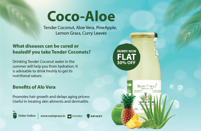 Cool Coco Aloe Cold Pressed Juice 200ml