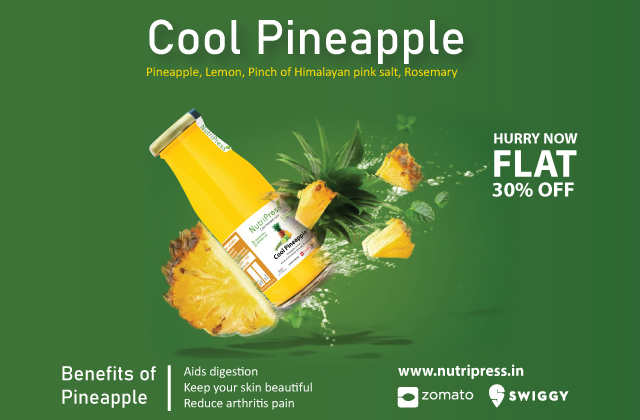 Cool Pineapple Cold Pressed Juice 200ml