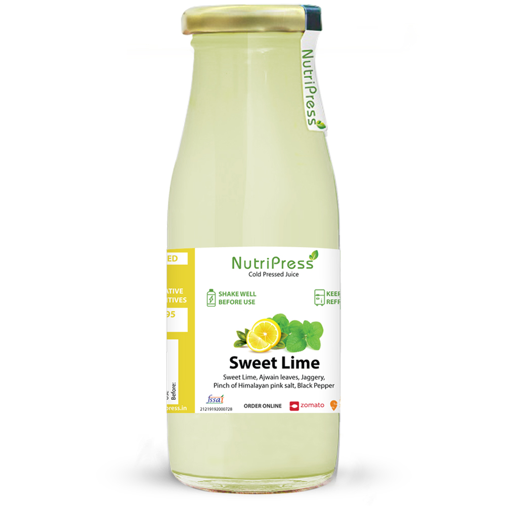 Sweet Lime Cold Pressed Juice 200ml