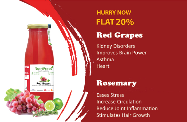 Red Grapes Cold Pressed Juice 200ml