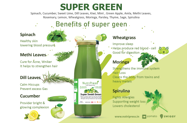 Super Sweet Green Cold Pressed Juice 250ml