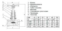Клапан запорный (вентиль) 15Б3р 15 Ci- фото 2