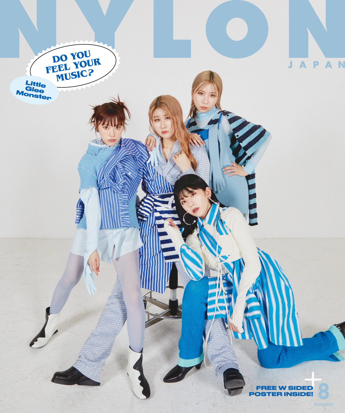 NYLON JAPAN 8月号 Amazon限定版表紙 Little Glee Monster