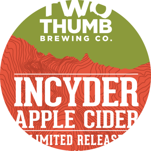 10195 v2 Two Thumb Incyder Apple Cider Tap Badge 85mm Bigger Tap Badge