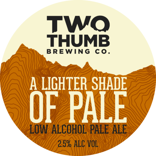 A lighter shade of pale tap badge 150mm
