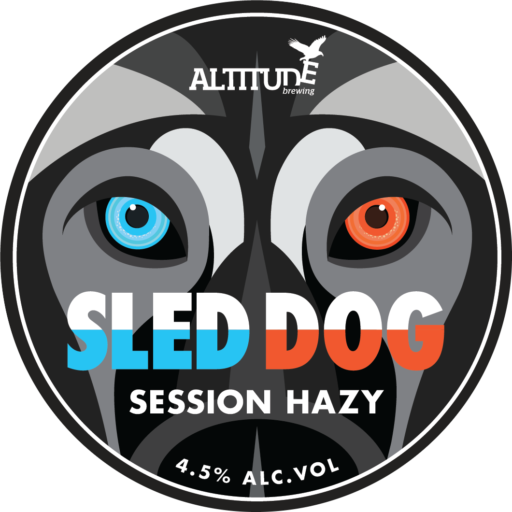 ABS215 Sled Dog Tap Badge AW 3
