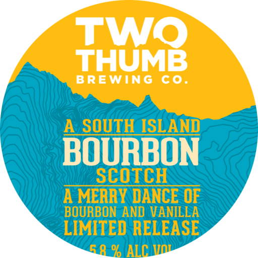 Bourbon Scotch Seasonal Tap Badge 85mm