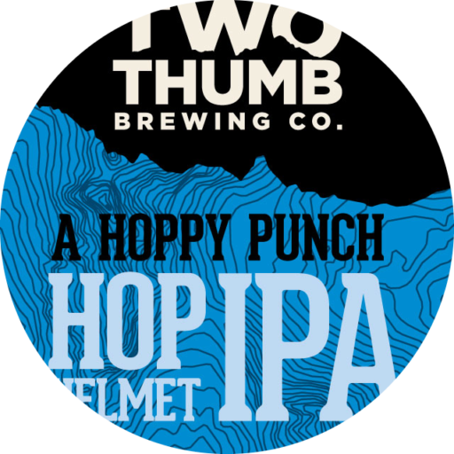 Hop Helmet IPA 100x100mm Tap Badge