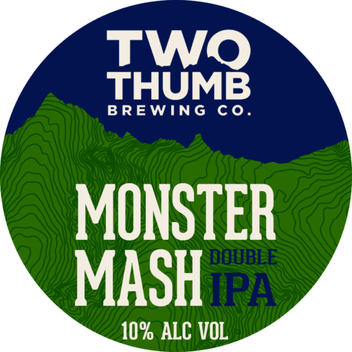 Monster Mash Double IPA Tap Badge 150mm