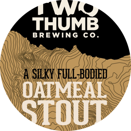 Oatmeal Stout 100x100mm Tap Badge