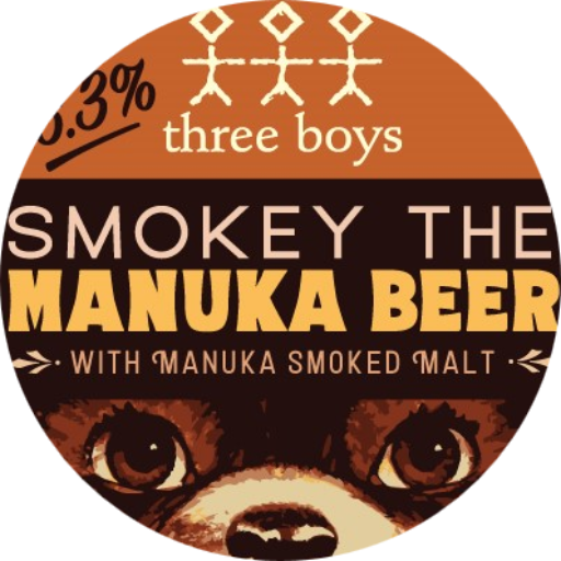 Smokey The Manuka Beer Tap Badge