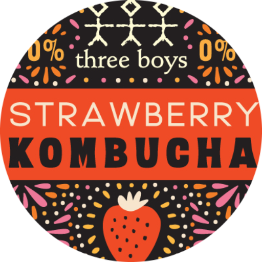 Strawberry Kombucha Tap Badge