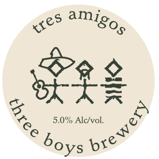 Tres Amigos Tap badge