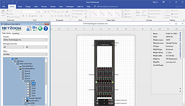Automatically create rack elevation diagrams in Visio