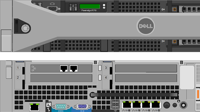 Dell Visio stencil by NetZoom - Power Edge server