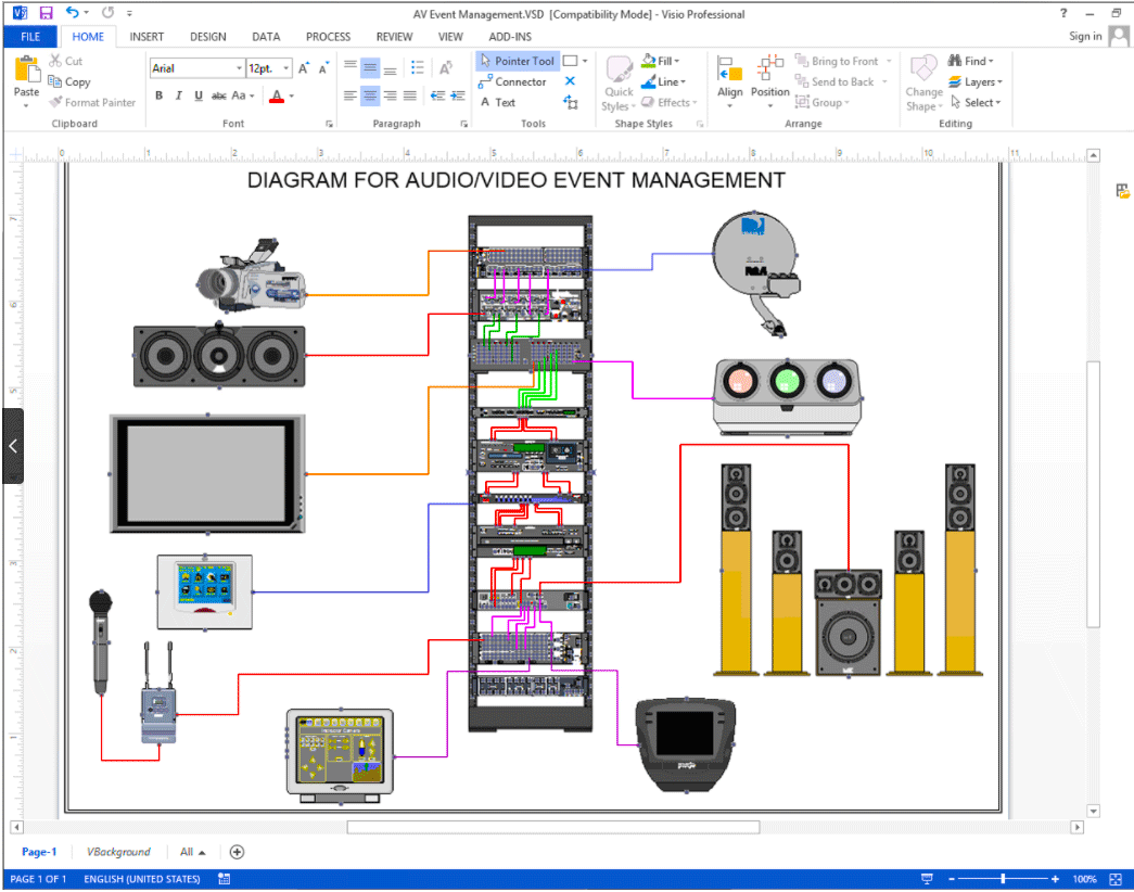 event wiring diagram create visio audio video wiring diagrams netzoom  visio audio video wiring diagrams