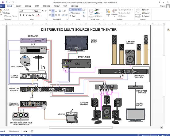 Create Visio Audio  Video  Wiring Diagrams