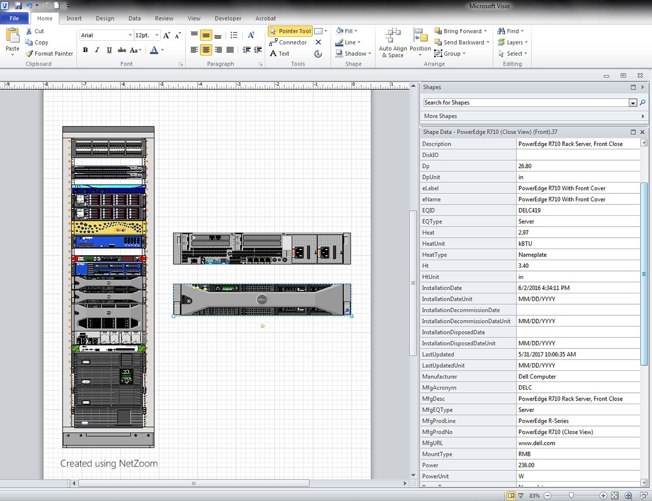 Create Visio Rack Elevation Diagrams Netzoom