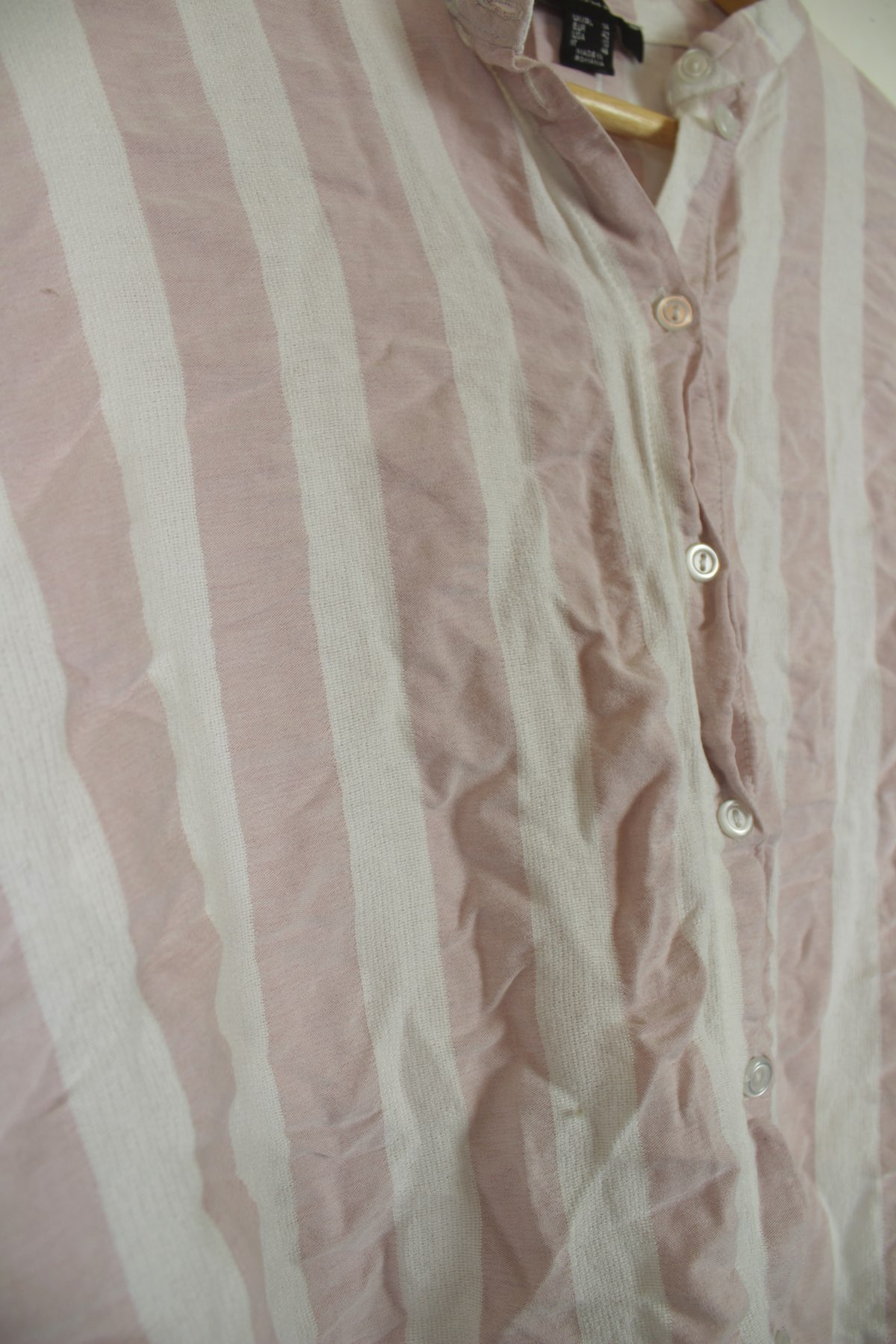 a3ff022bb HomeWomenAtmosphere white & pink striped summer blouse shirt top Size 14.  Previous. Second Hand Clothes · Second Hand Clothes