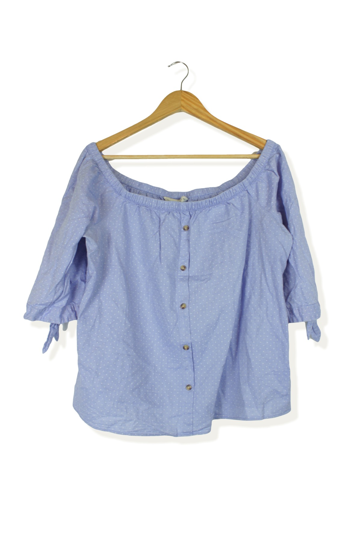 12ba38d4a6607 ... off shoulder bardot summer blouse top Size 16. Sold Out. Previous. F F  Second-Hand Clothing